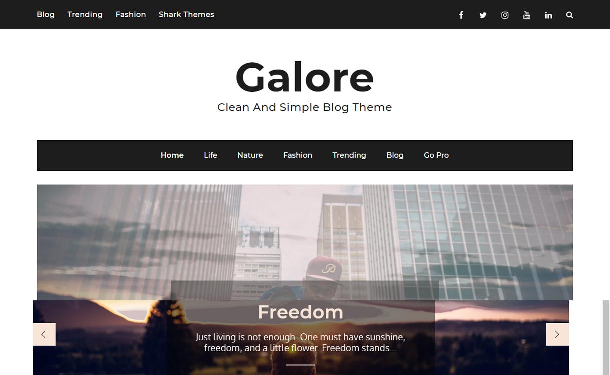 galore best free wordpress themes march - 21+ Best Free WordPress Themes March 2018