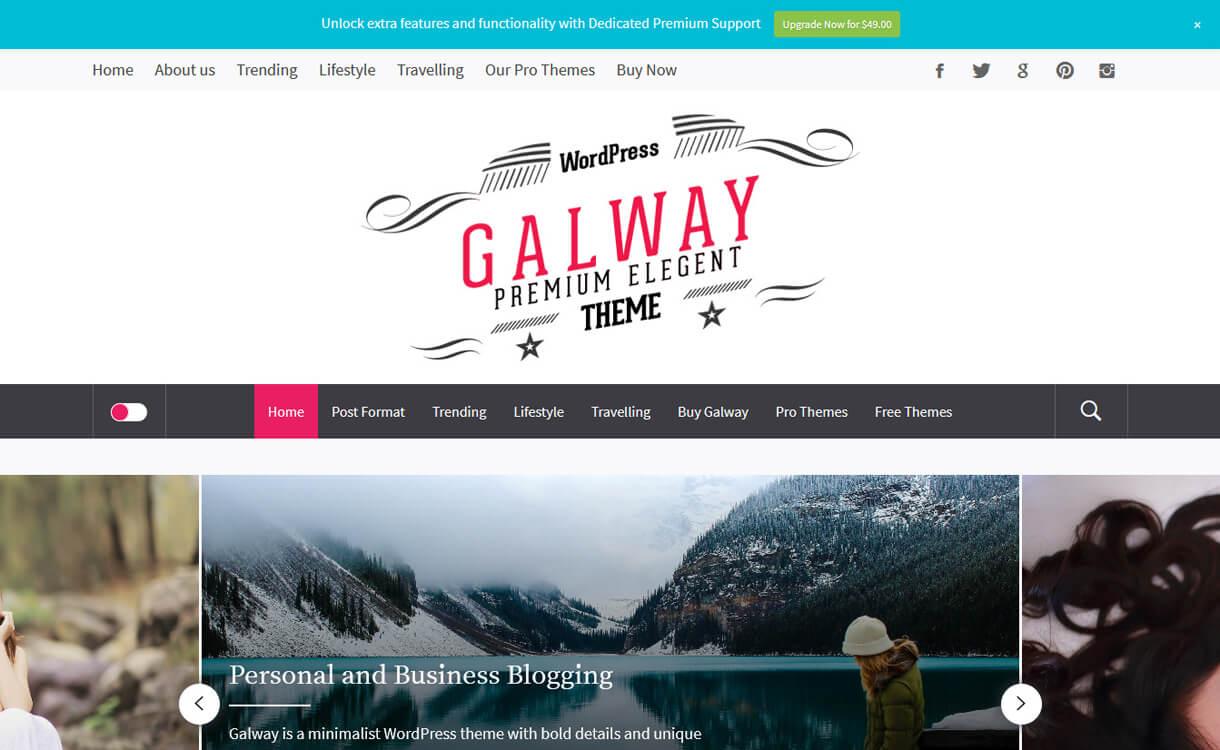 galway lite best free wordpress themes march - 21+ Best Free WordPress Themes March 2018