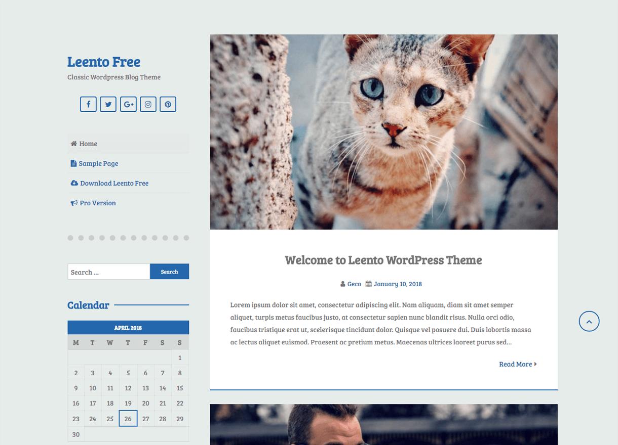 Leento-Best Free WordPress Themes April 2018