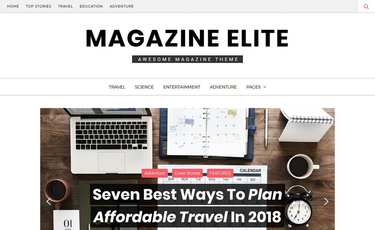 magazine elite best free wordpress themes march - 21+ Best Free WordPress Themes March 2018