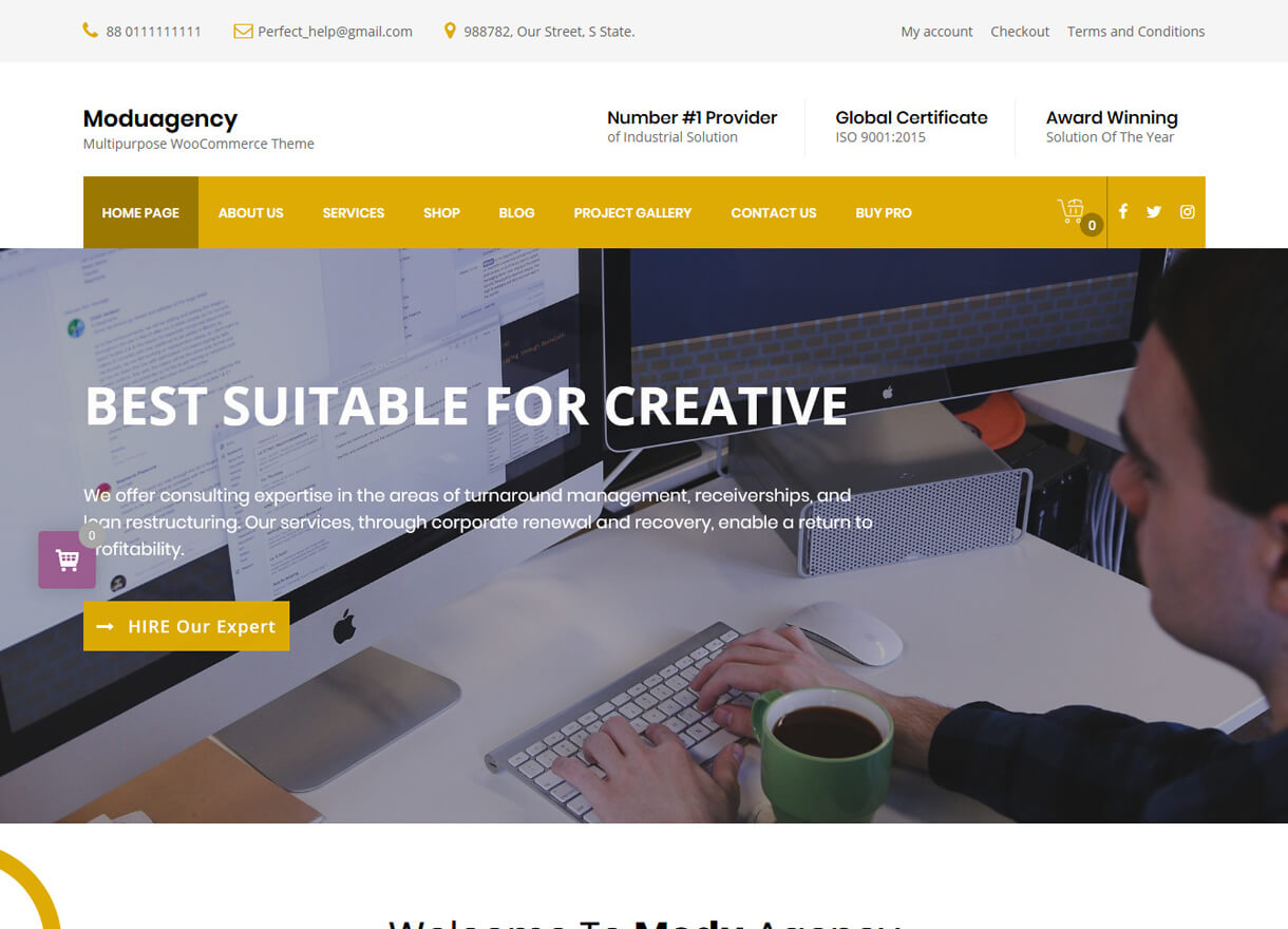 moduagency best free wordpress themes april - 21+ Best Free WordPress Themes April 2018