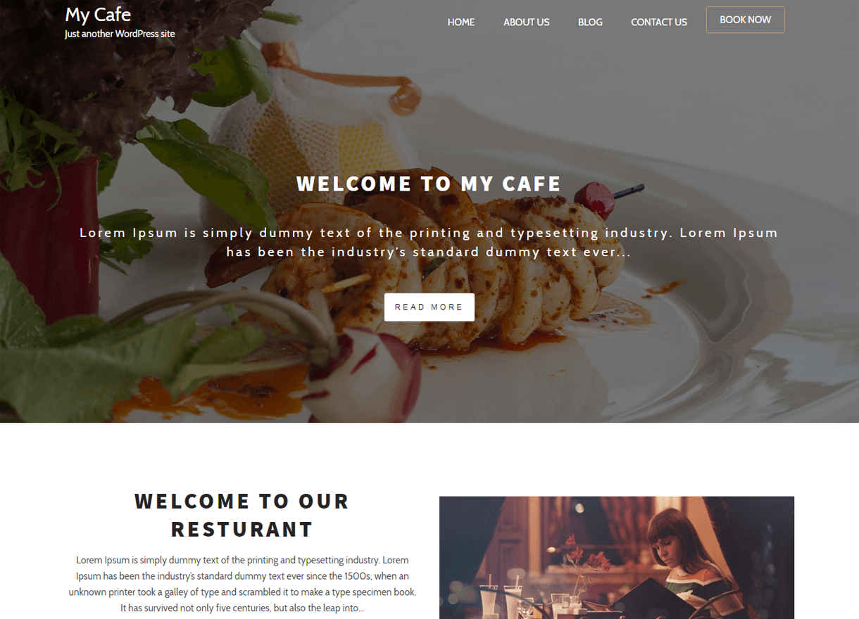 my cafe best free wordpress themes april - 21+ Best Free WordPress Themes April 2018