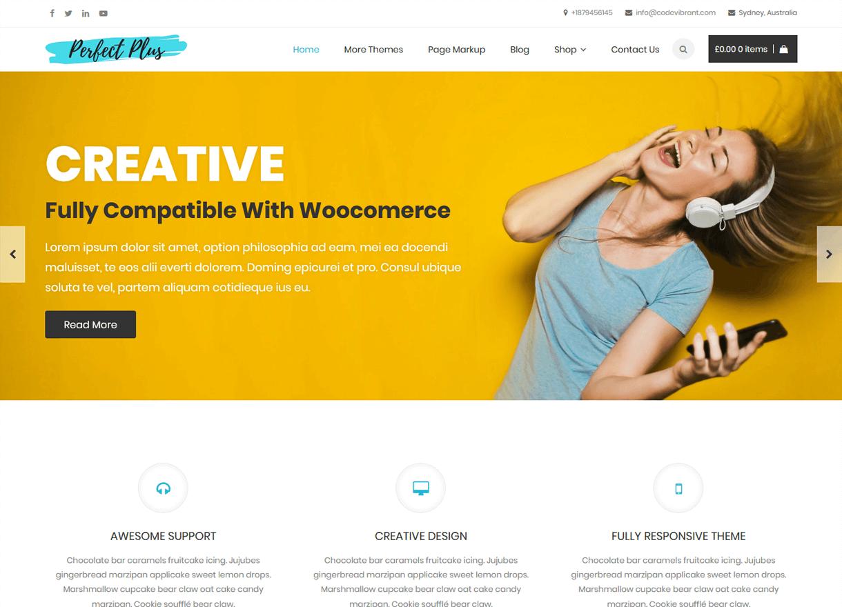 perfect plus best free wordpress themes april - 21+ Best Free WordPress Themes April 2018