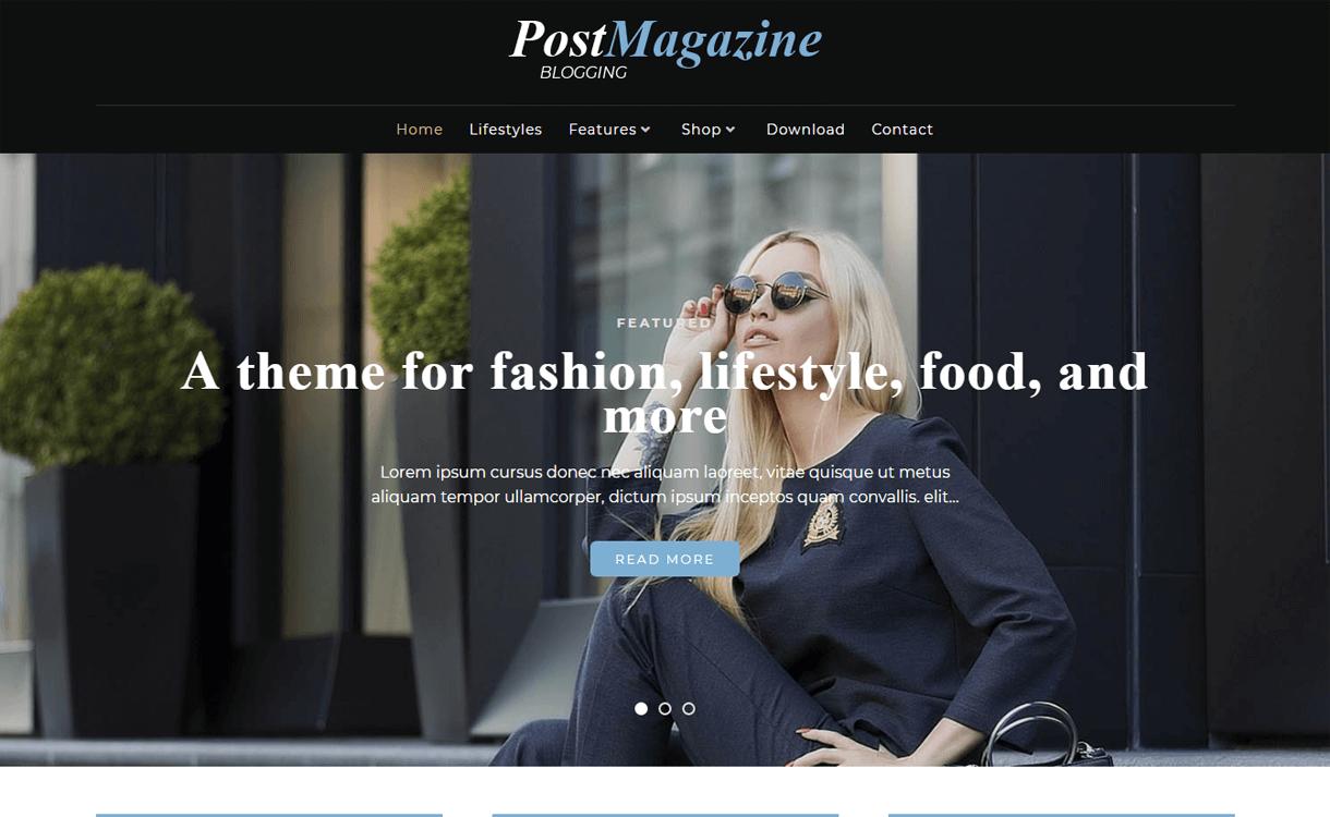 postmagazine best free wordpress themes march - 21+ Best Free WordPress Themes March 2018