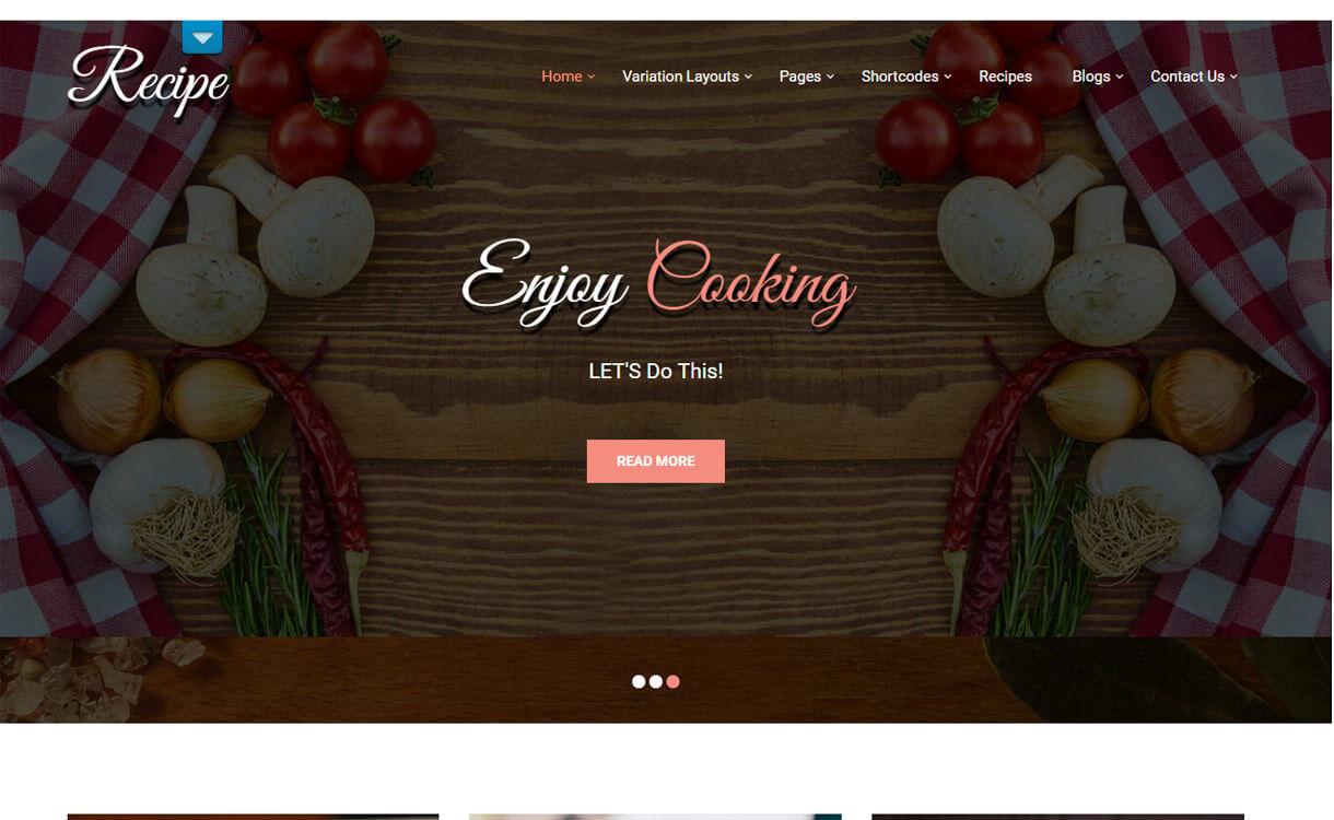 Recipe Lite WordPress Theme