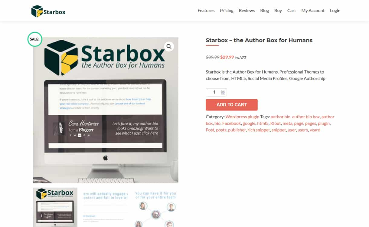 starbox - 5+ Best WordPress Author Bio Box Plugins 2019 (Updated)