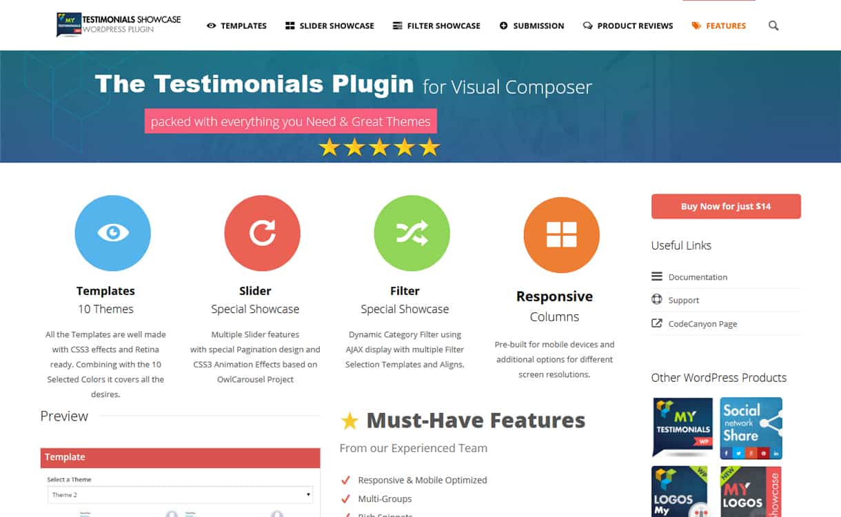 testimonials showcase for visual composer - 5+ Best WordPress Testimonial Plugins (Premium Collection)