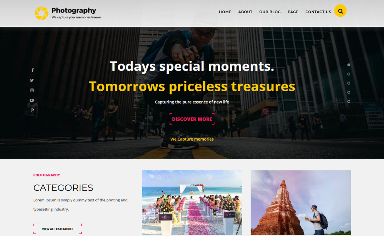 TS Photography-Best Free WordPress Themes March 2018