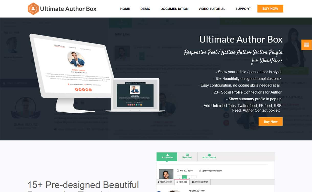 ultimate author box - 5+ Best WordPress Author Bio Box Plugins 2020 (Updated)