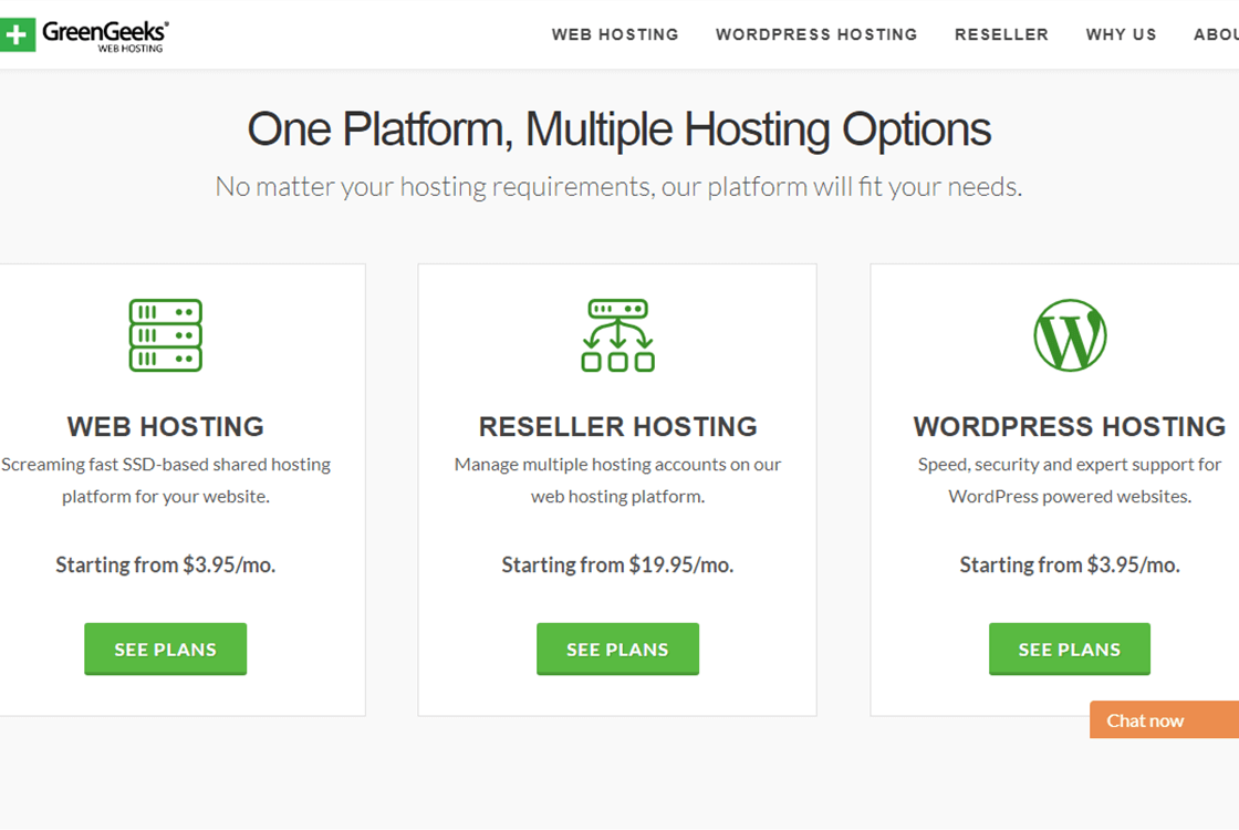 GreenGeeks WordPress Hosting Plans
