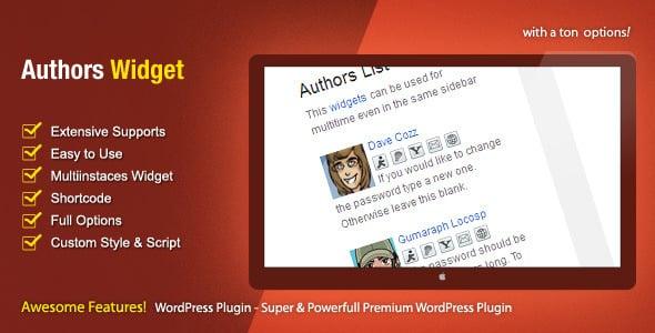 authors widget - 5+ Best WordPress Author Bio Box Plugins 2020 (Updated)