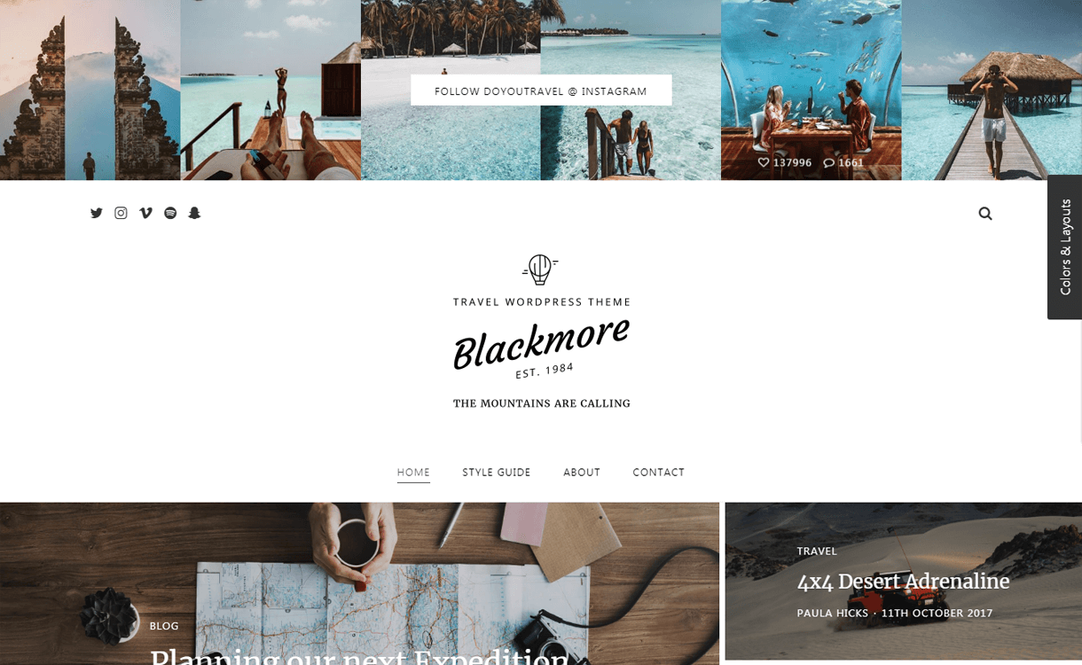 blackmore best travel blogs wordpress themes 1 - 21+ Best WordPress Travel Blog Themes 2019
