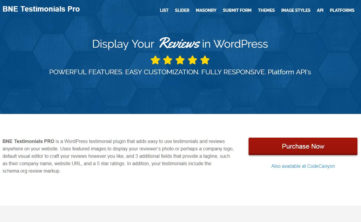 bne testimonials pro - 5+ Best WordPress Testimonial Plugins (Premium Collection)