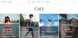 Cali - Free WordPress Blog Theme