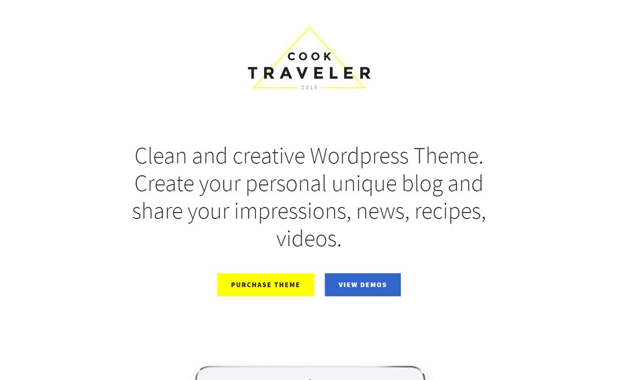 cook traveller best travel blogs wordpress themes 1 - 21+ Best WordPress Travel Blog Themes 2019