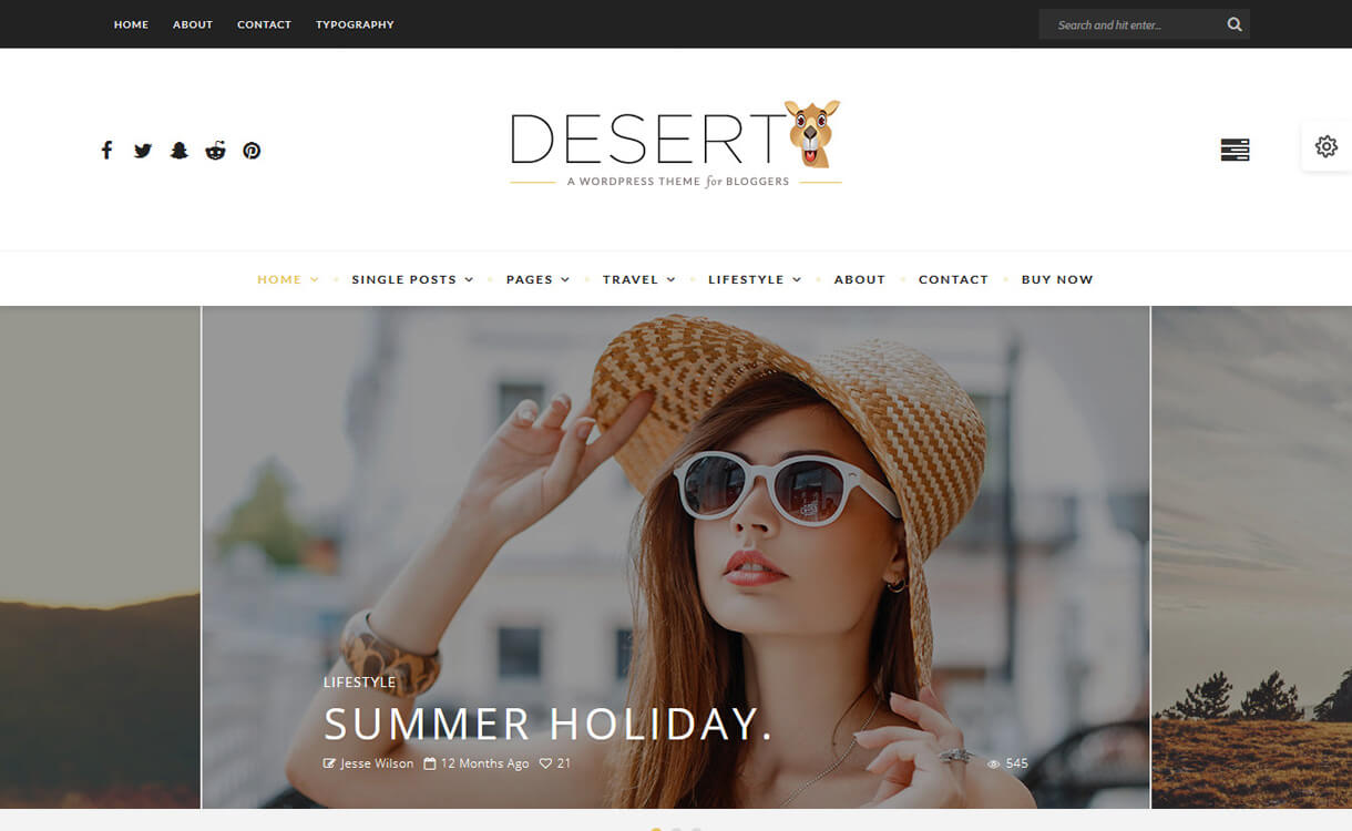 desert best travel blogs wordpress themes 1 - 21+ Best WordPress Travel Blog Themes 2019