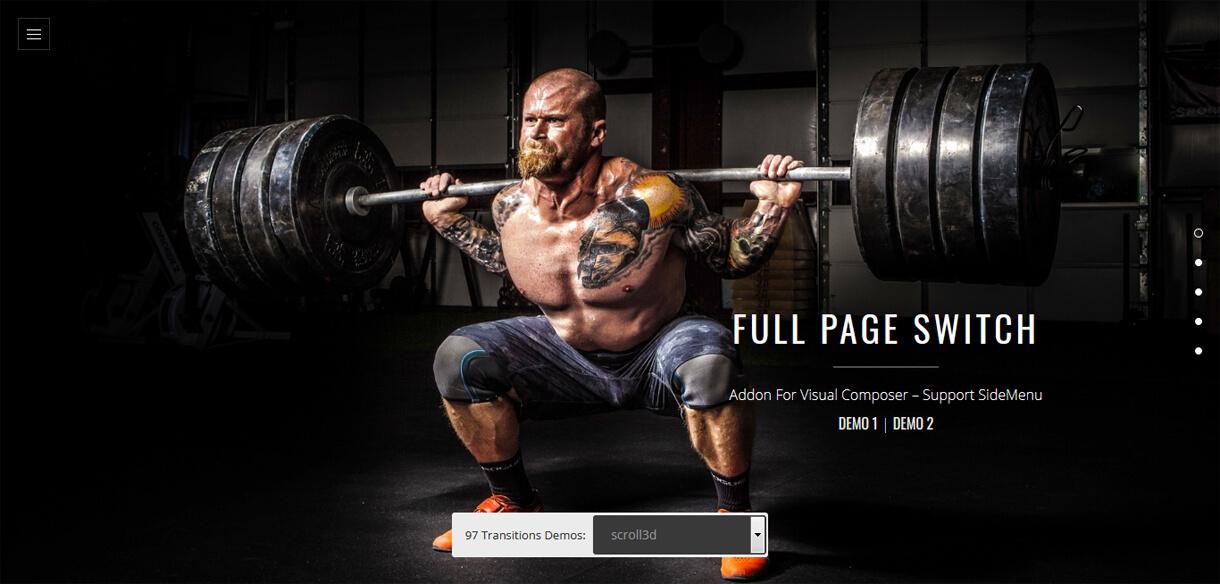 Full Page Switch - WordPress One Page Navigation Plugin