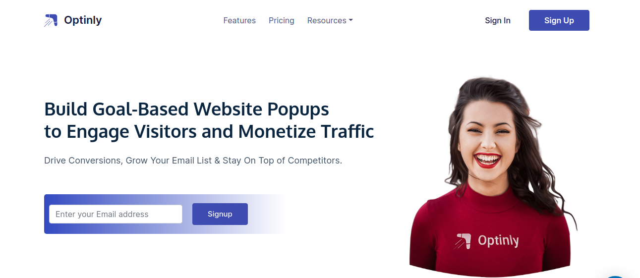 Optinly WordPress popup plugin