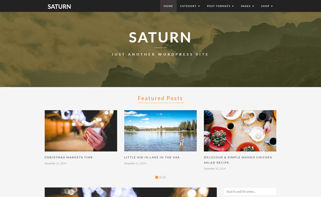 saturn best travel blogs wordpress themes 1 - 21+ Best WordPress Travel Blog Themes 2019