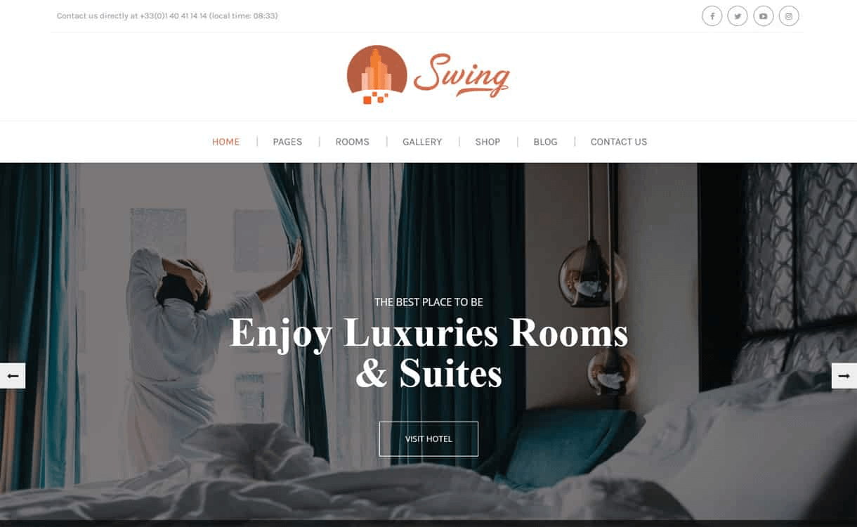 swing best wordpress travel blogs themes - 21+ Best WordPress Travel Blog Themes 2019