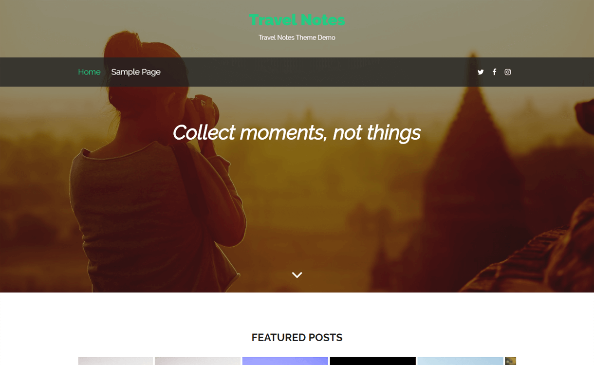 travel notes best travel blogs wordpress themes 1 - 21+ Best WordPress Travel Blog Themes 2019