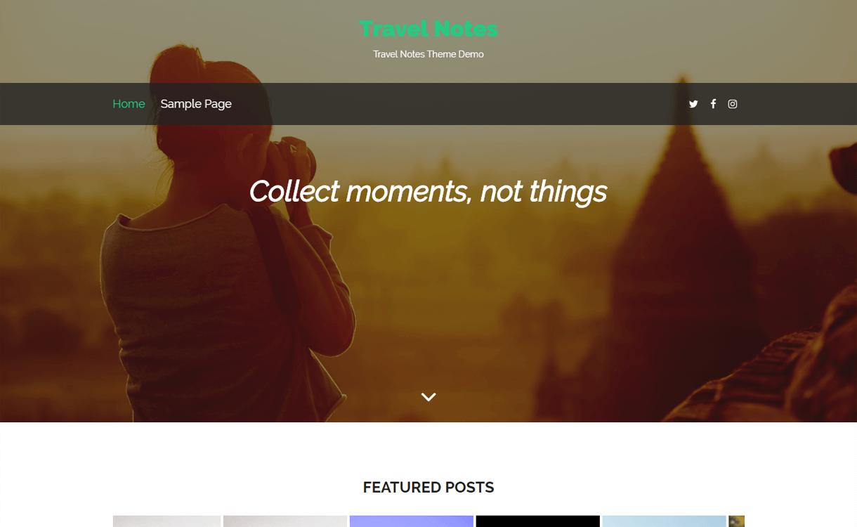 travel notes best travel blogs wordpress themes 1 - 21+ Best WordPress Travel Blog Themes 2019