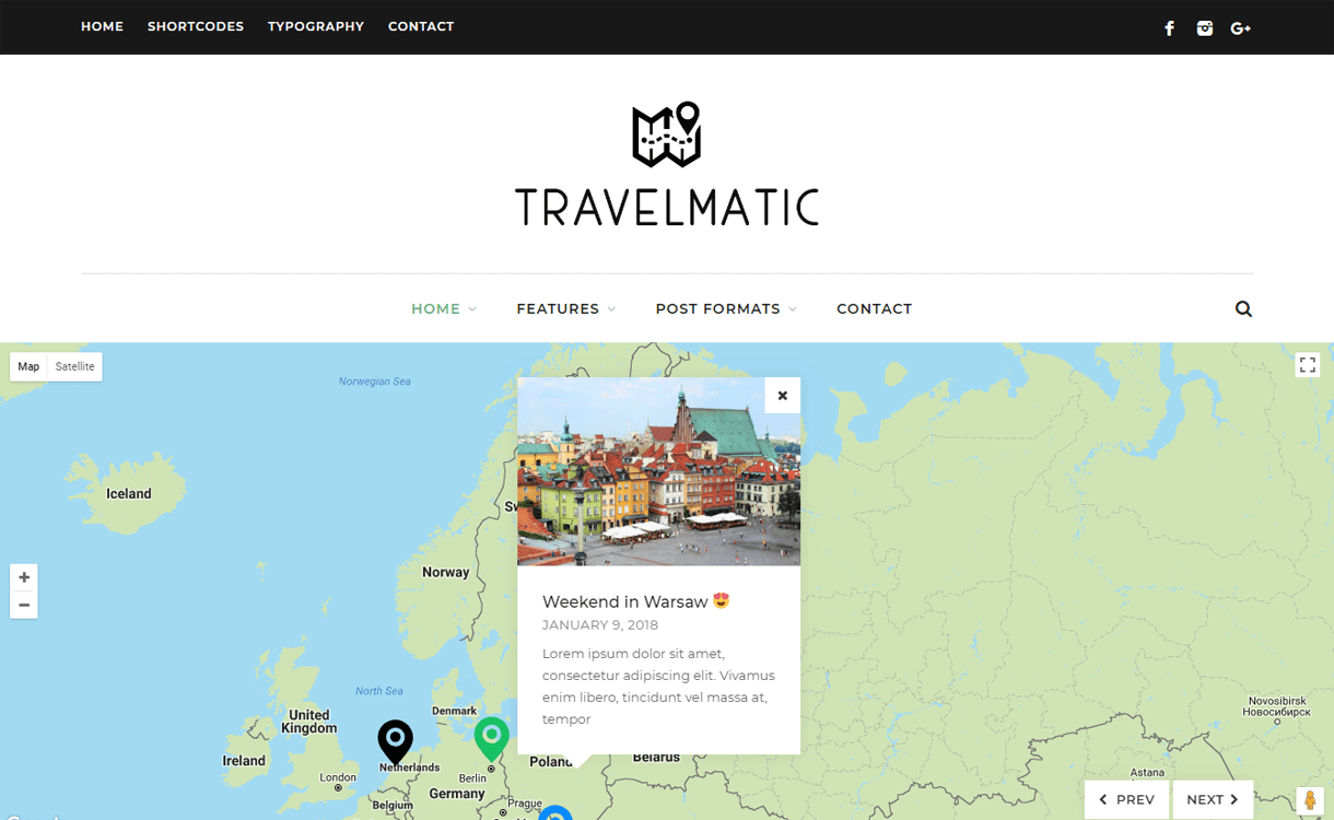travelmatic best travel blogs wordpress themes 1 - 21+ Best WordPress Travel Blog Themes 2019