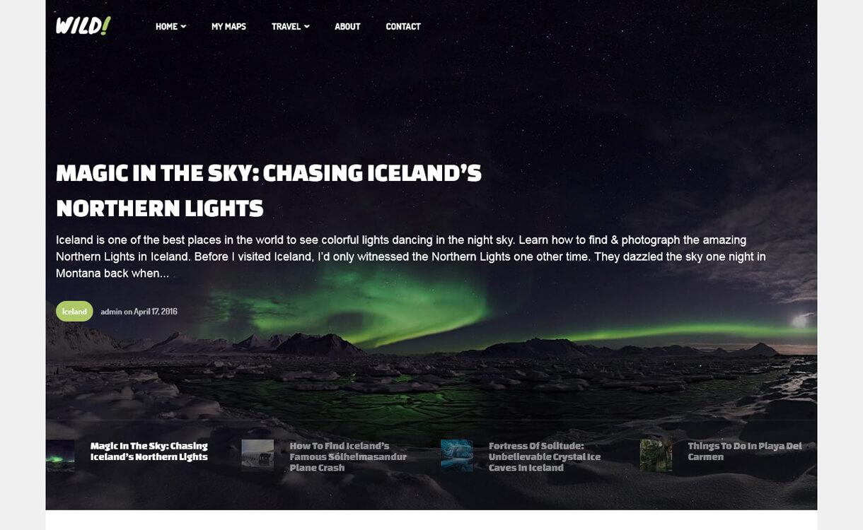 wild personal best travel blogs wordpress themes 1 - 21+ Best WordPress Travel Blog Themes 2019