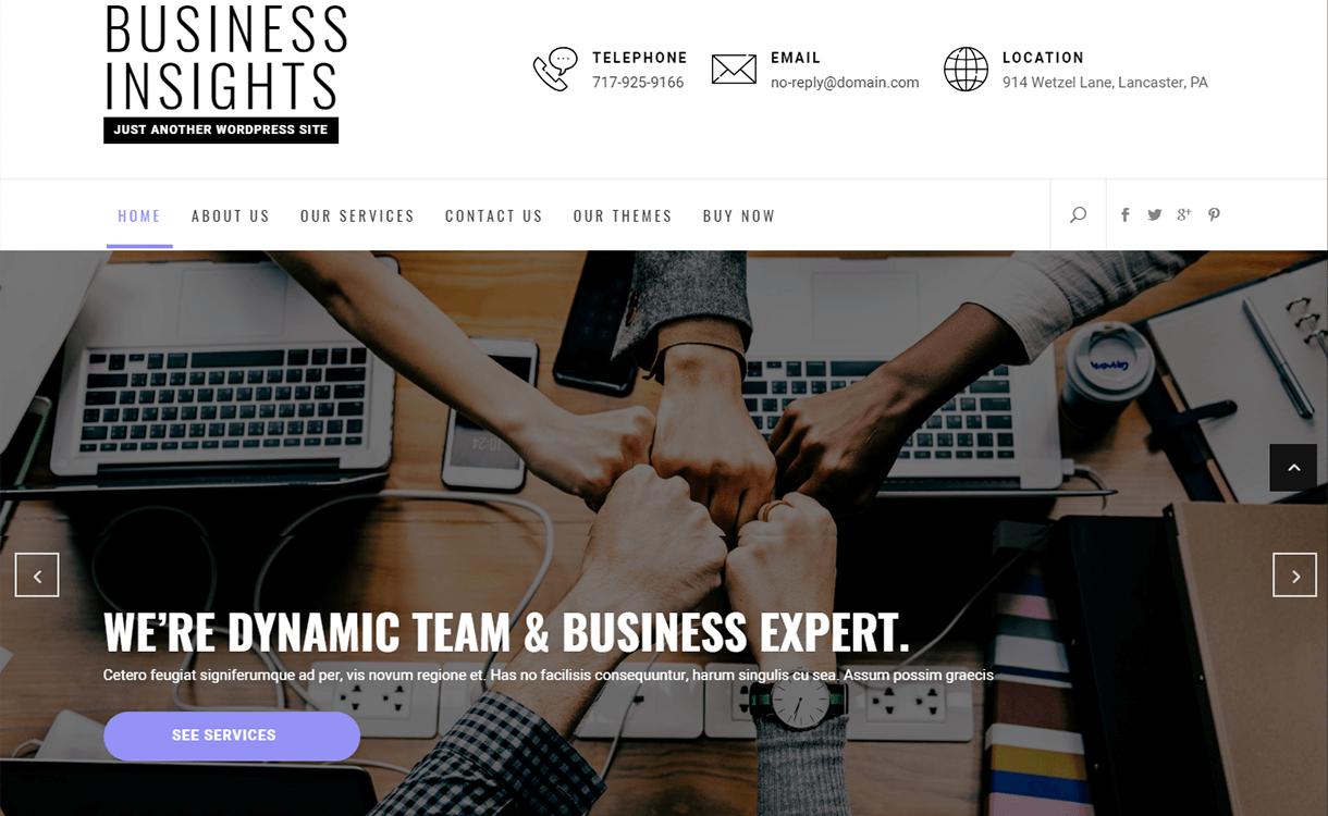 Business-Insights-Best Free WordPress Themes June 2018