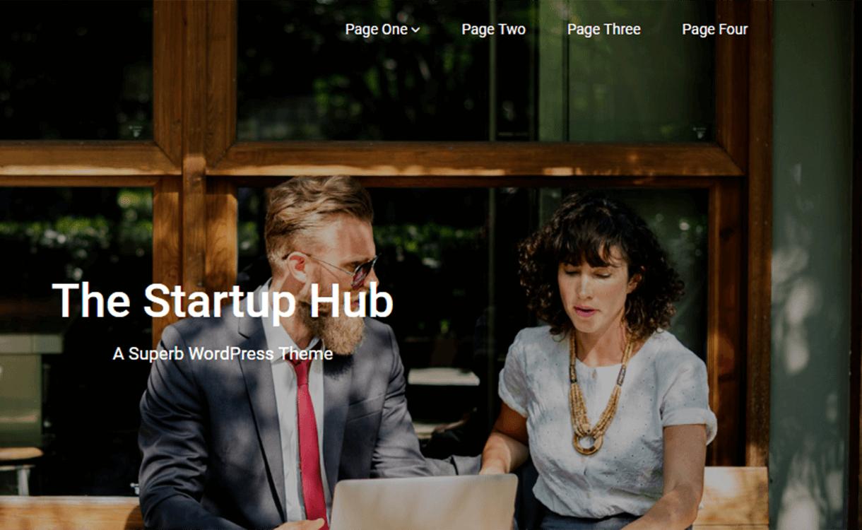 Startup-Hub-Best Free WordPress Themes June 2018