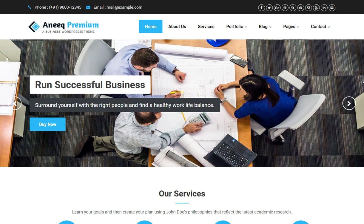 aneeq - 21+ Best Free WordPress Themes May 2018