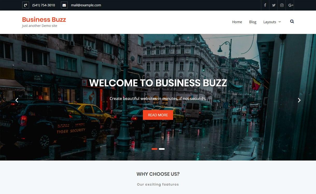 business buzz - 21+ Best Free WordPress Themes May 2018