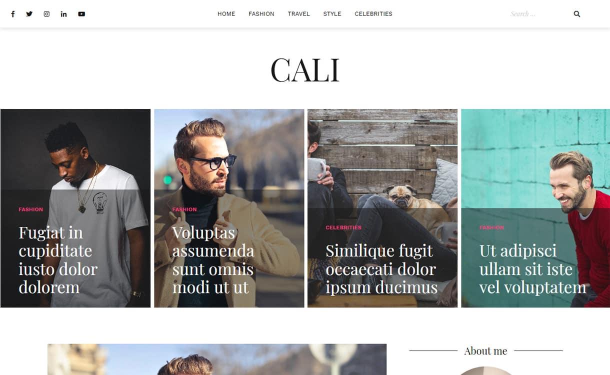 cali - 21+ Best Free WordPress Themes May 2018
