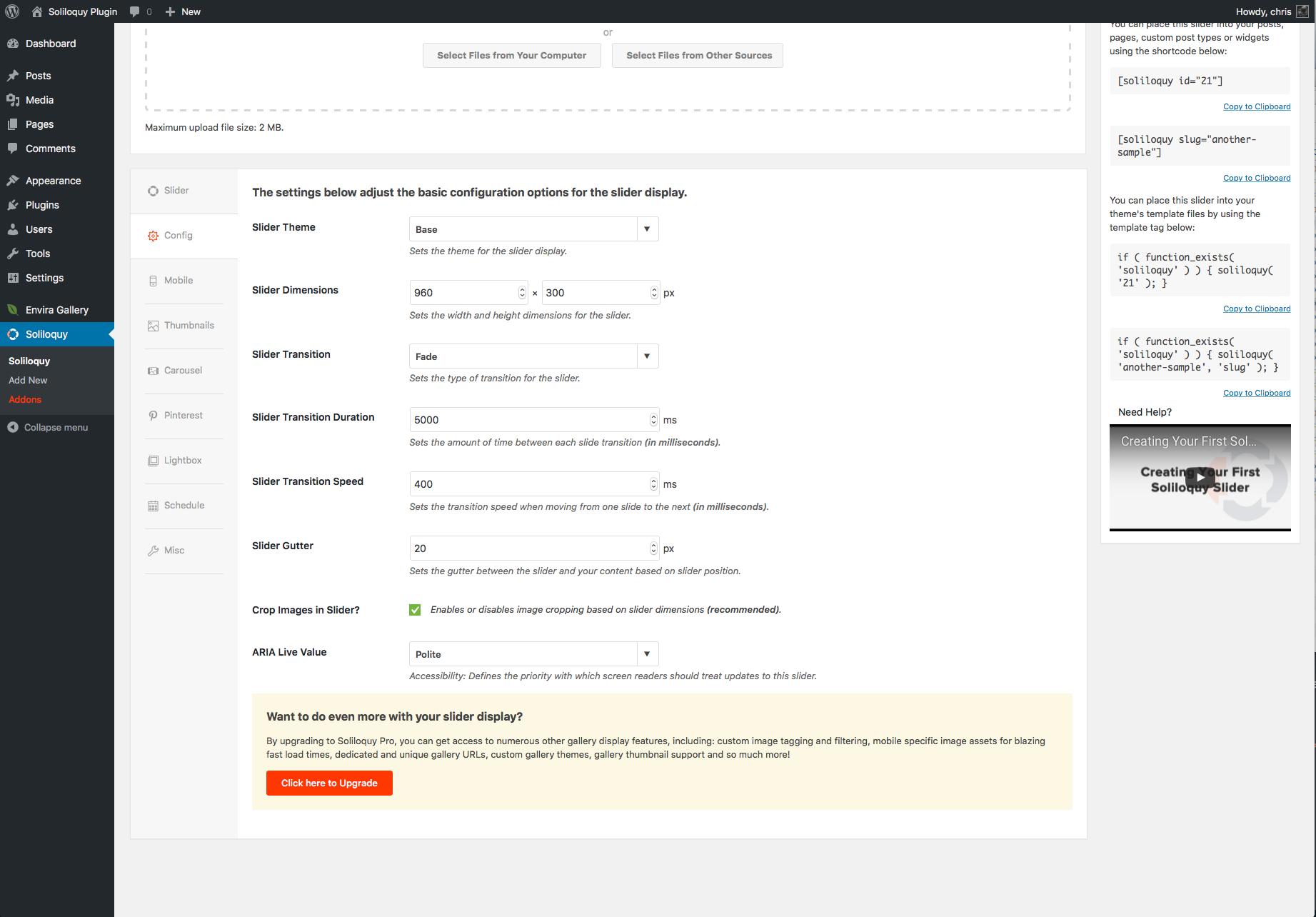 configuration option slider by soliloquy - 10+ Best Free WordPress Slider Plugins