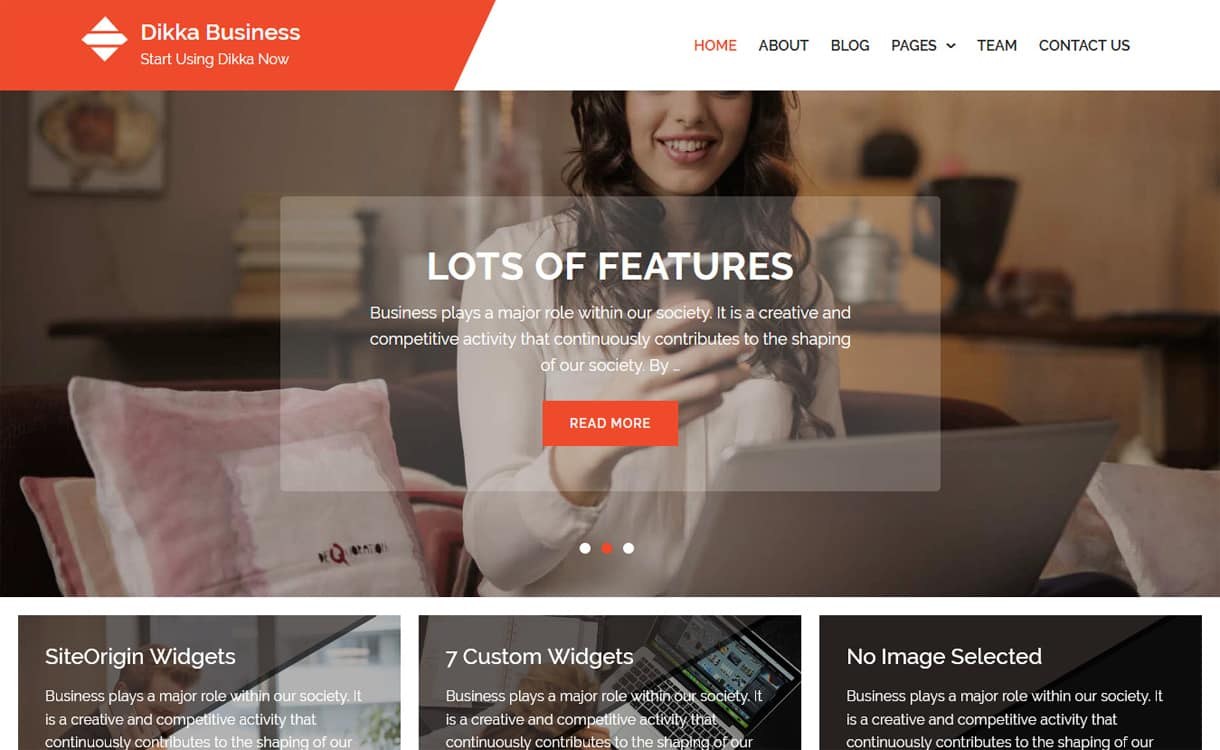 Dikka Business-Best Free WordPress Themes May 2018