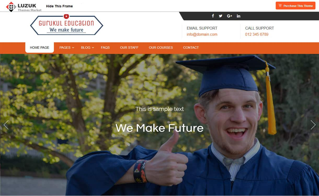 gurukul education - 21+ Best Free WordPress Themes May 2018