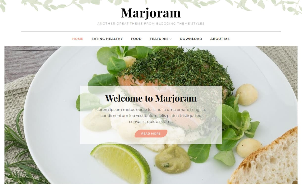 Marjoram-Best Free WordPress Themes May 2018