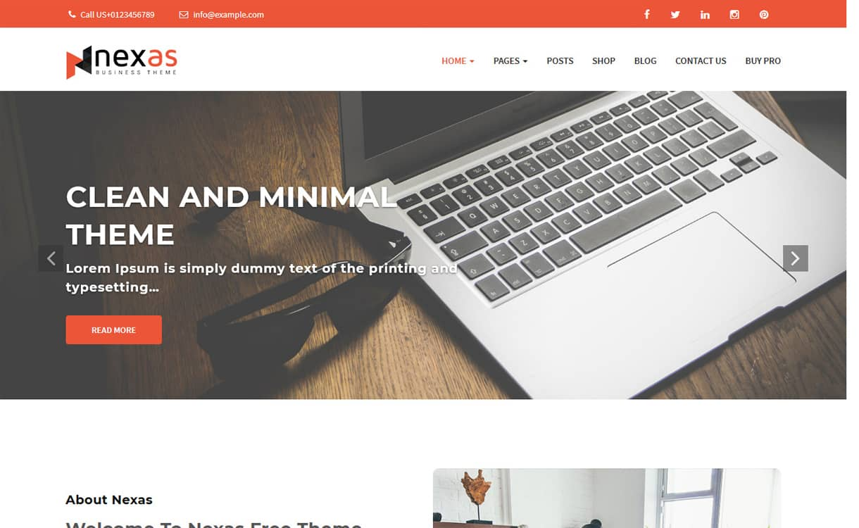 nexas - 21+ Best Free WordPress Themes May 2018