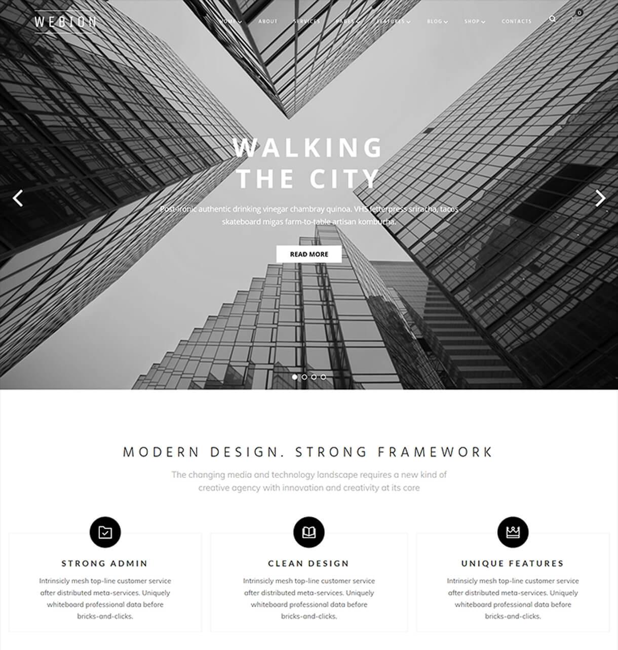 webion homepage - Webion - Minimal Elementor Multipurpose WordPress Theme