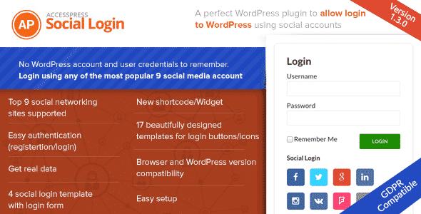AccessPress Social Login - WordPress Social Login Plugins