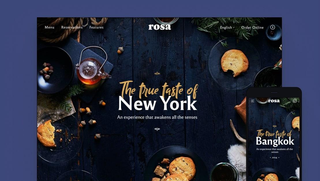 rosa wordpress portfolio theme - 35+ Best Premium WordPress Themes and Templates 2020[UPDATED]