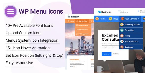wp menu icons add custom icons in wordpress menu - How to enhance your WordPress website Navigation with Mega Menu, Fly Menu, Circular Menu, Custom menu icons and more!