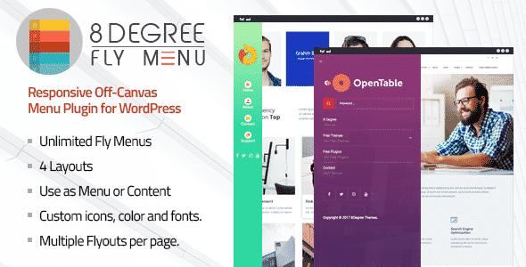 8degree fly menu - 5+ Best WordPress Off-Canvas Navigation Menu Plugins (Premium Collection)