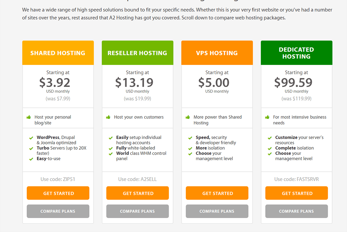 Compare Web Hosting Compare Hosting Packages as Smart Object 1 1 - A2 Hosting - Fast Web Hosting for WordPress
