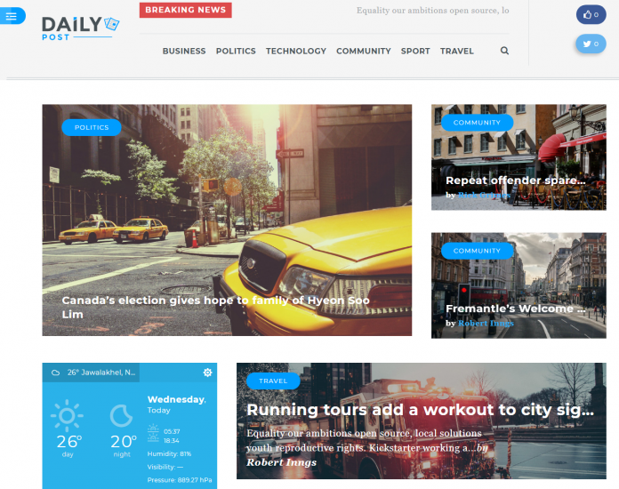 Daily Post - Premium Magazine WordPress Theme