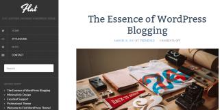 Flat - Free Blog WordPress Theme