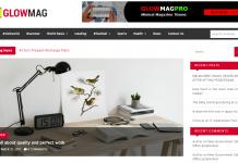GlowMag - Free Magazine WordPress Theme