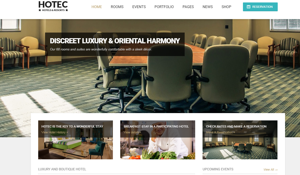 Hotec - 10+ Best Hotel / Resort Premium WordPress Themes and Templates