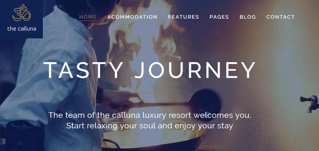 Hotel Calluna - 10+ Best Hotel / Resort Premium WordPress Themes and Templates