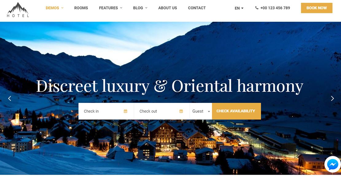 Hotel WP Hotel WordPress Theme - 10+ Best Hotel / Resort Premium WordPress Themes and Templates